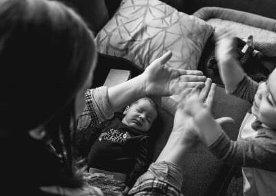 Newborn documentary photo session by Rochester NY Family Photographer