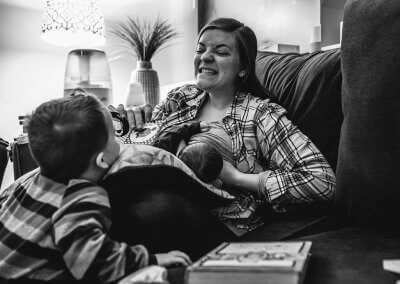 I've never enjoyed breastfeeding. Everyone always made it out to be this magical bonding experience and I've never felt that. I started counting down the weeks until my son's first birthday pretty early on because that's when I planned to stop breastfeeding. I'm three weeks into nursing my second son right now and I'd be lying if I said I hadn't subtracted 3 from 52 already. It's not magical for me, but I'm so thankful for it. I'm thankful that my body is working the way God intended it to and that it produces something that sustains and nourishes my boys for the first year of their life. I'm thankful that I've had the chance to do this, because I know so many women who want it, but can't. And mostly I'm thankful for sleepy, post-nursing session, milk drunk snuggles.