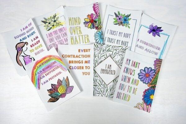 DIY Birth Affirmation Cards